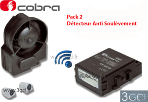 ALARME CAN BUS COBRA 4625 AVEC SIRENE SANS FIL + ANTI SOULEVEMENT